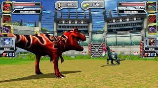 Video Tyrannosaurus VS Shunosaurus - Jurassic Park Builder JURASSIC Tournament Android Gameplay MP3, 3GP, MP4, WEBM, AVI, FLV November 2018