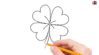 How to Draw a Four Leaf Clover Step by Step Easy for Beginners/Kids – Simple Drawing Tutorial