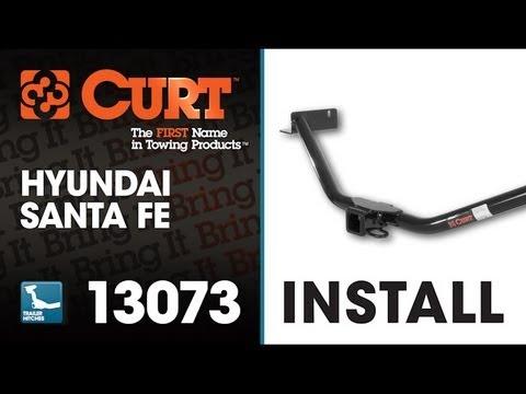 Trailer Hitch Install: CURT 13073 on 2011 Hyundai Santa Fe