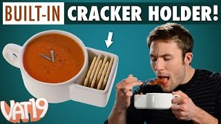 Keep your crackers tidy and at-the-ready with Soup & Cracker Mugs. Buy here: ...
