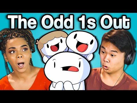 Teens React to TheOdd1sOut (видео)