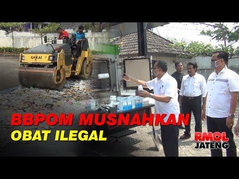 BBPOM Semarang Musnahkan Obat dan Kosmetik Ilegal