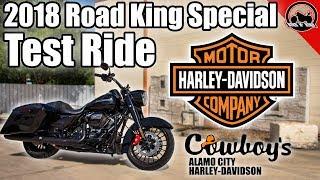 1. 2018 Harley-Davidson Road King Special Test Ride