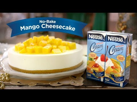 """No-bake Mango Cheesecake""