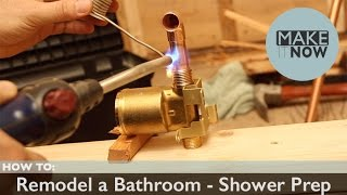 How To: Remodel A Bathroom - Shower Prep