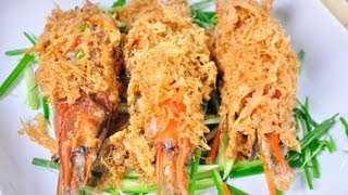 [Thai Food] Prawn Wrapped With Egg Net (Goong Non Hae)