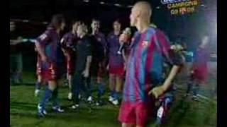 Henrik Larsson verabschiedet sich von Barcelona-Fans