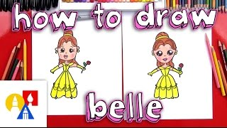 How To Draw A Cartoon Belle From Beauty And The Beast