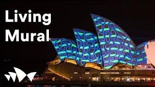 Living Mural – Projection sur les voiles de l'Opéra de Sydney