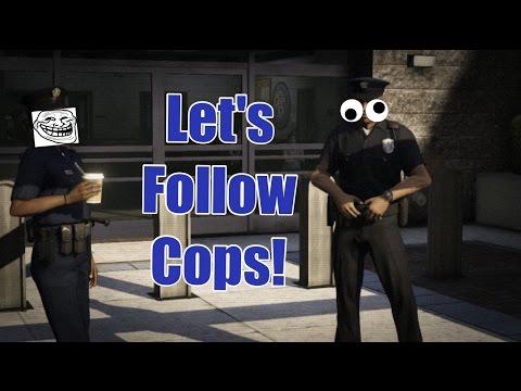 Lets Follow Cops! #1 (GTA V Funny Moments)
