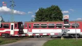Lokalita / Location: III/2185, Jazernica Trať / Track: ŽSR 170 (Vrútky - Zvolen) Výstražníky / Lights: AŽD 71 / klasický zvonek Vlaky...