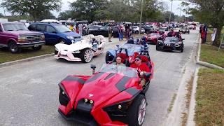 7. HUUUGE Polaris Slingshot Convoy!!! Florida Classic Riding Big Car Show 2017 - Orlando, Florida