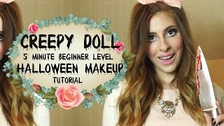 Creepy Doll 5 Min Easy Halloween Makeup Tutorial