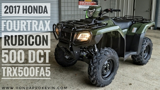 4. 2017 Honda Rubicon 500 DCT 4x4 ATV (TRX500FA5H) Walk-Around Video | Olive | HondaProKevin.com