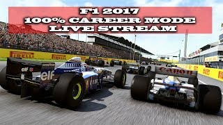 Gaming :F1 2017 / 100 % Career Mode Spain Attempt 2!!!  (Live Stream)