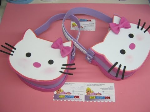 come realizzare una borsetta di hello kitty in foamy