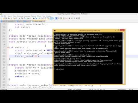 Busqueda de datos en arbol Binario | Programacion en C