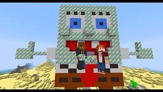 Minecraft RAINBOW Lucky Blocks (Spongebob Bikini Bottom) + OP BOSSES&OP WEAPONS