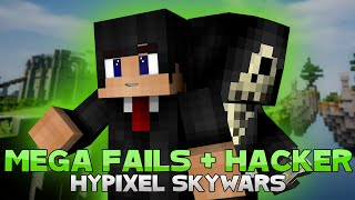 MEGA FAILS W/ NGAL + FINDING A HACKER! ( Hypixel Skywars )