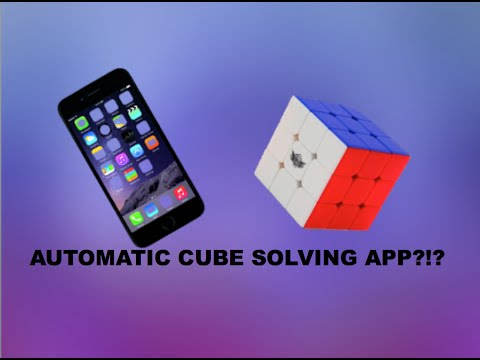 THIS APP SOLVES A RUBIKS CUBE?