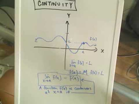 patrickJMT - Buy my book!: '1001 Calculus Problems for Dummies' - you can get it on my website: http://patrickjmt.com/ Continuity - The basic idea of what it means for a ...