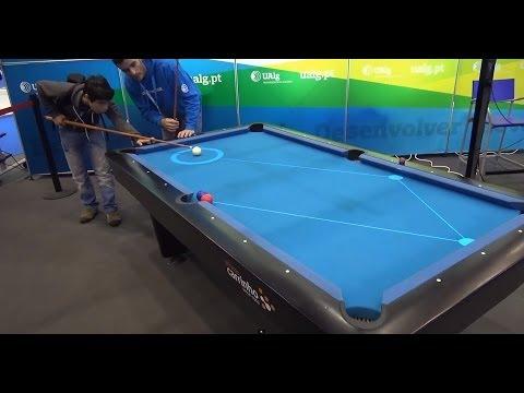 在這個撞球桌上打球 新人都能變高手 超高科技
