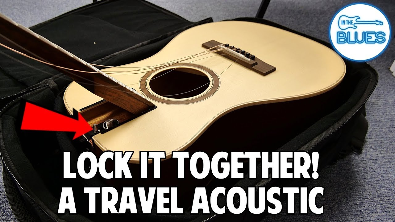 Journey Guitars Overhead Acoustic Guitar OF420L (Fits in a Rectangle Backpack?!)