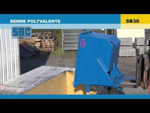 Video Youtube Benne sur pivot central - Capacité 510 à 2120 litres - Charge inférieure à 1800 kg