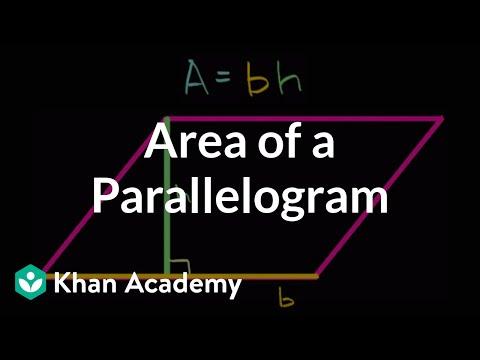 Area Of A Parallelogram Video Khan Academy