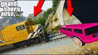 КОЛХОЗНЫЙ ХАММЕР ЛИМУЗИН ПРОТИВ ПОЕЗДА ГТА 5 | Mammoth Stretch vs Train GTA 5