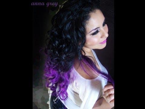 como pintar el pelo violeta - NO MALTRATA EL CABELLO ♥ *****************BÚSCAME EN FACEBOOK******************* https://www.facebook.com/Anna.Grey.Anabell.YouTube********** PEINADO FÀCIL.