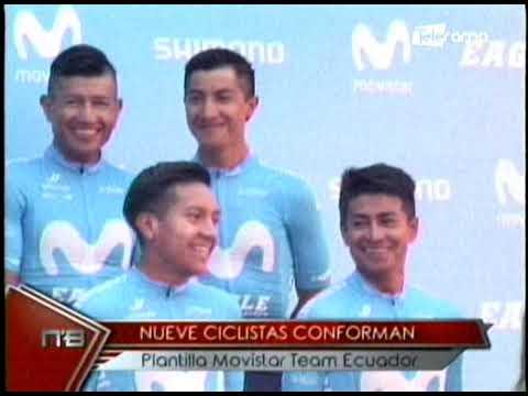 Nueve ciclistas conforman plantilla Movistar Team Ecuador