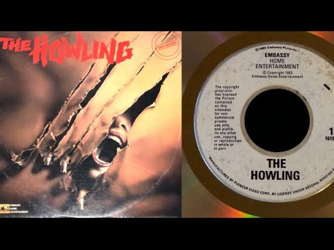 """Original LaserDisc Opening to """"THE HOWLING"""" (1981) #2/4 (EMBASSY Home Entertainment, 1983)"""
