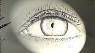 Human Eye Drawing - [Jung Hyun Lee] - [HD](Music) pencil drawing, time-lapse, graphite
