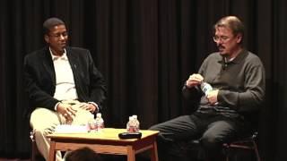BREAKING BAD Creator Vince Gilligan with AFI Sloan Seminar faculty member Ainissa Ramirez on May 14, 2010.
