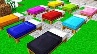 Video IMPOSSIBLE RAINBOW BED WARS CHALLENGE! (Minecraft Trolling) MP3, 3GP, MP4, WEBM, AVI, FLV Januari 2018