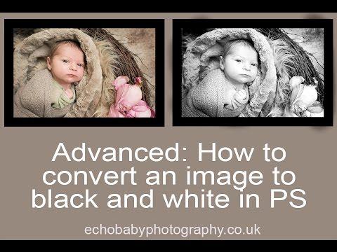 Newborn Photo Editing Advanced : Converting to black and white