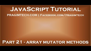 JavaScript array mutators