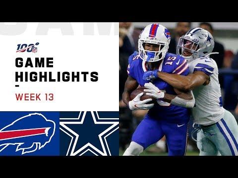 Bills vs. Cowboys Week 13 Highlights | NFL 2019