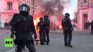 Leipzig Germany  city photo : Germany: Water cannon deployed at fiery Leipzig protest against far-right demos