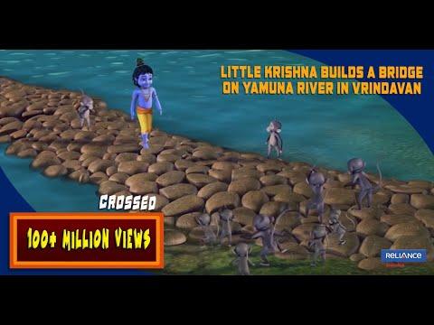 Little Krishna builds a Bridge on Yamuna river in Vrindavan | Clip