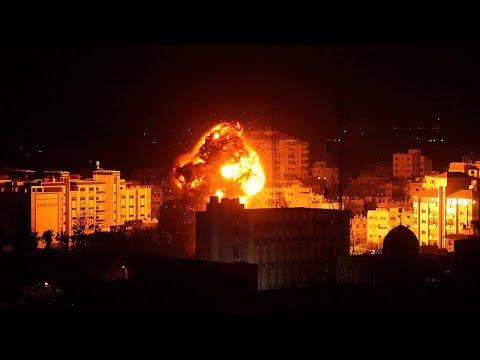 Israel: Vergeltungsschläge in Gaza - Büro von Hamas-C ...