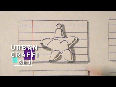 Dibujos de amor - como dibujar una estrella entre lineas DIBUJO 3D FACIL
