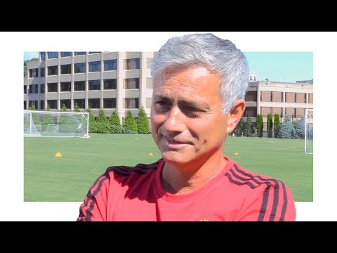 Jose Mourinho Interview - 'I Want To Leave Man Utd A Much, Much, Much Better Team Than I Found' (видео)