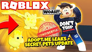 *LEAKS!* Adopt Me SECRETS and New Legendary PETS! NEW Adopt Me Roller Skates Update (Roblox)
