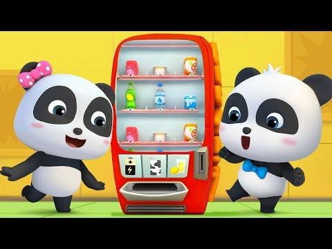What's in Vending Machine?   Baby Panda's Cool Car   Magical Chinese Character   BabyBus Cartoon (видео)