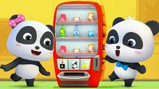 Video What's in Vending Machine? | Baby Panda's Cool Car | Magical Chinese Character | BabyBus Cartoon MP3, 3GP, MP4, WEBM, AVI, FLV Januari 2019