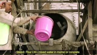 Integral waterproofing -  Dr Fixit LW+ application - Hindi