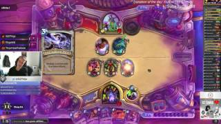 http://www.reddit.com/r/hearthstone/comments/5ytrvg/thijs_final_boss_yoggsaron_for_12_wins_in_heroic/     https://clips.twitch.tv/MoldySourStinkbugPipeHype