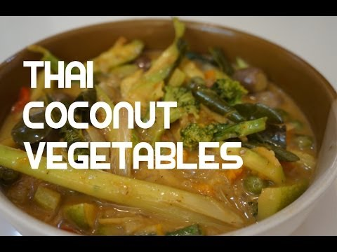 Thai Vegetables in Coconut Recipe – Galangal Lime Leaves Asian Vegan